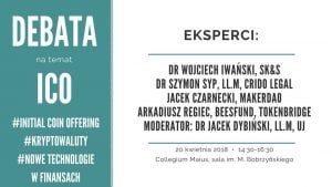 Debata ekspercka na temat ICO @ Muzeum UJ | Kraków | małopolskie | Polska