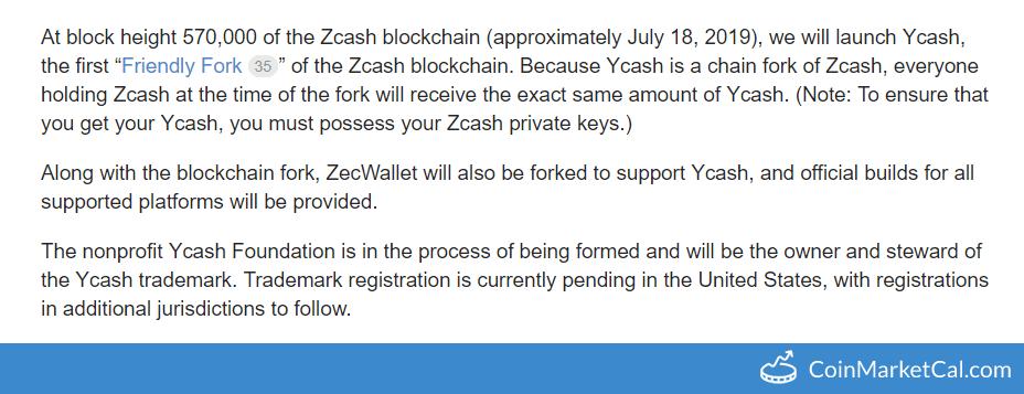zcash ycash fork