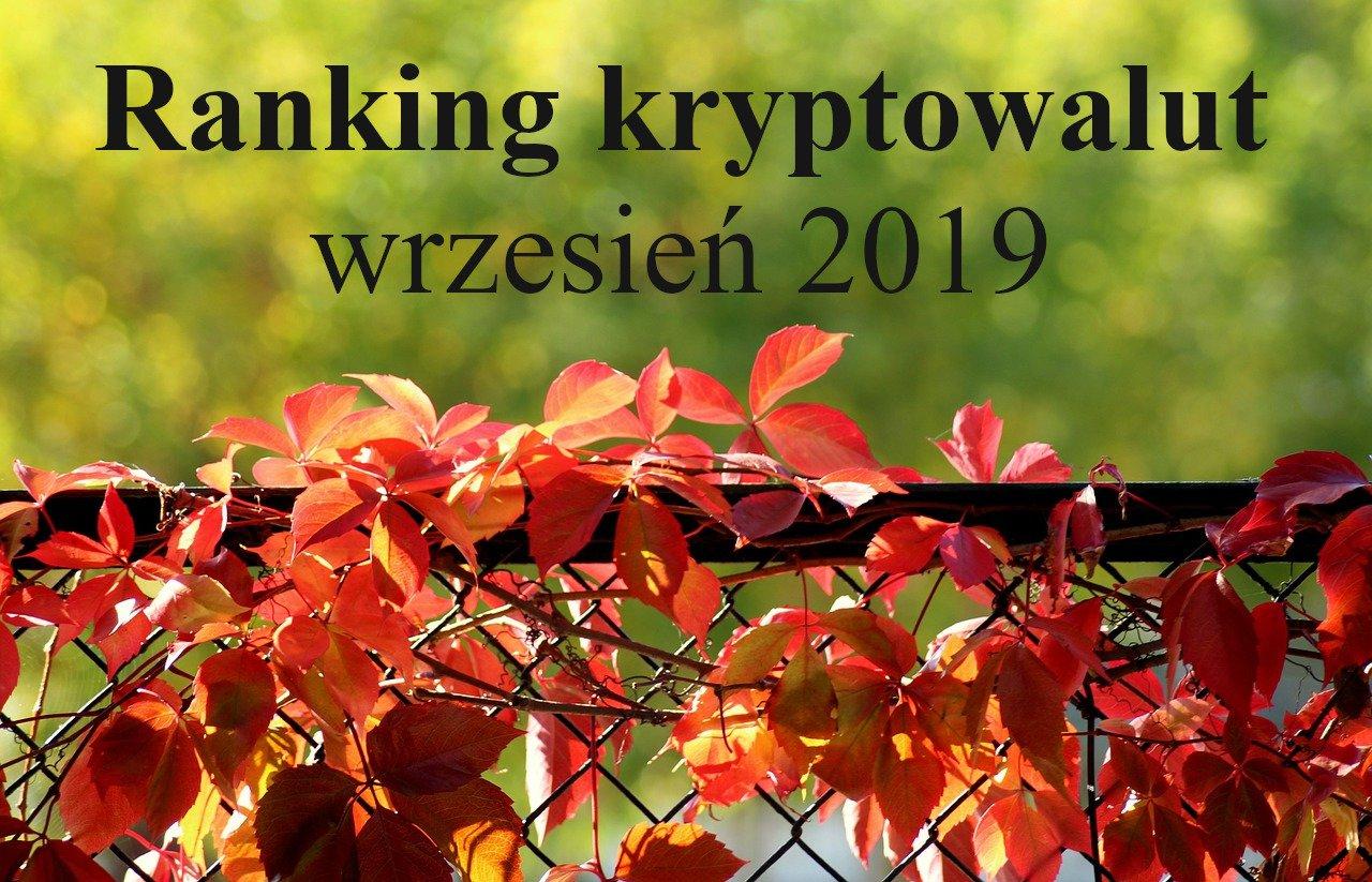 Ranking krypto wrzesień 2019