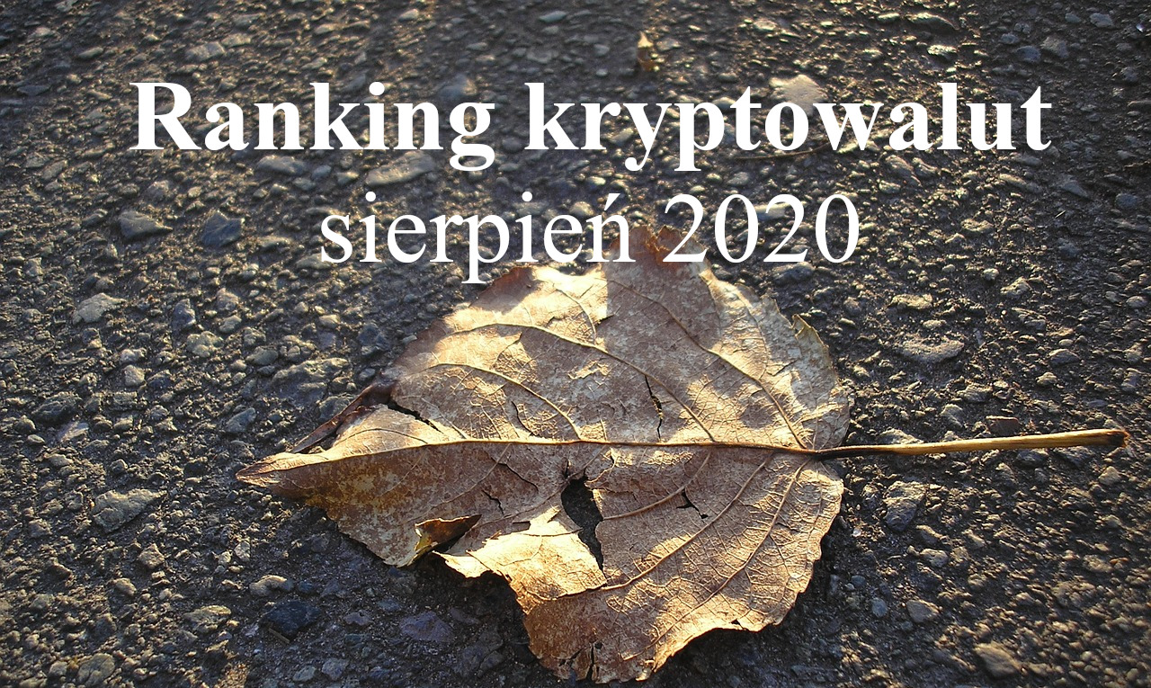 ranking krypto sierpień 2020