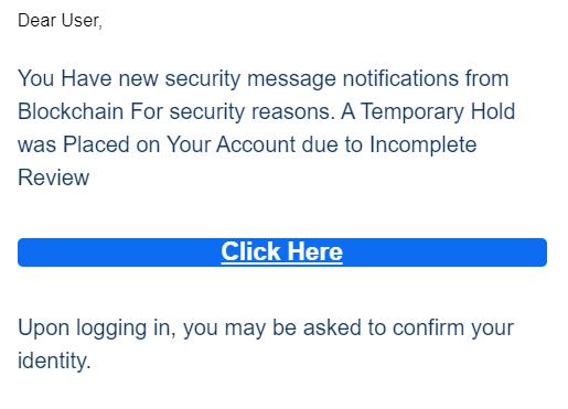 blockchain scam mail