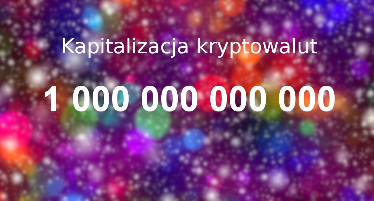 kapitalizacja kryptowalut bilion