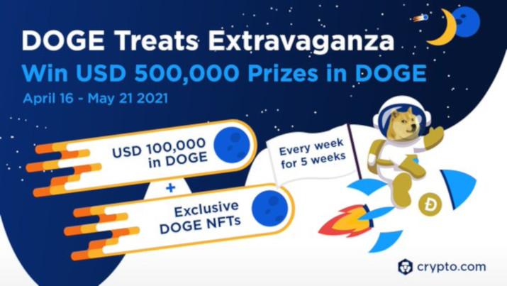 DOGE Treats Extravaganza - 500 000 USD w nagrodach DOGE na Crypto.com